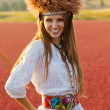 Beautiful hippie girl — Stock Photo