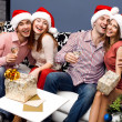 Happy friends,new year — Stock Photo