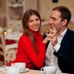 Young Couple Enjoying Coffee — Stock Photo