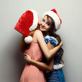 Cristmas girls — Stock Photo