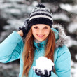 Attractive young woman in winter — Stock Photo #18026675