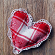 Handmade hearts hanging - Stock Photo