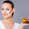 Royalty-Free Stock Photo: girl eating healthy food