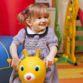 Little girl playing — Stock Photo