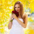 Royalty-Free Stock Photo: Beautiful bride outdoors in a forest