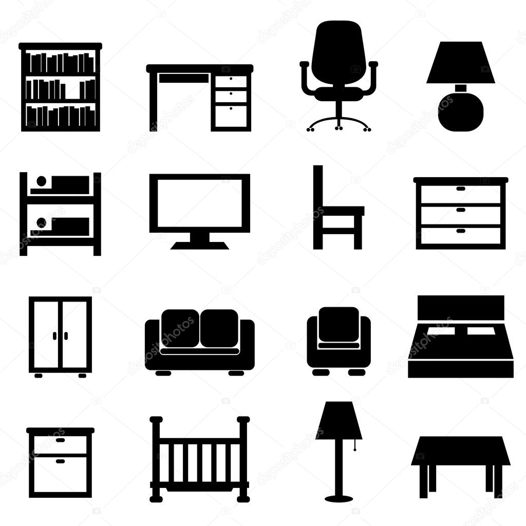 Office Desk Silhouette House and office furniture