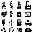 Stock Vector: Energy icon set