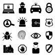 Security icon set - Stock Vector