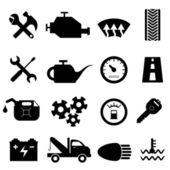 Bil underhåll och reparation ikoner — Stockvektor