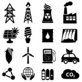 Conjunto de iconos de energía — Vector de stock