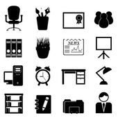 Office furniture and tools — Vector de stock
