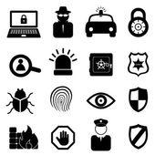 безопасности икона set — Cтоковый вектор