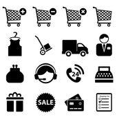 Shopping icon set — Stock Vector