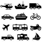 Vervoer pictogrammenset — Stockvector