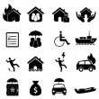 Insurance icon set — Image vectorielle