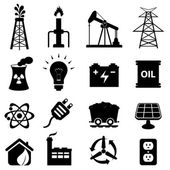 Energy icon set — Vector de stock