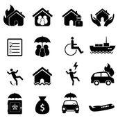 Insurance icon set — Stock Vector