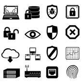 Ağ ve bilgisayar güvenliği — Stok Vektör