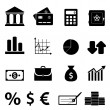 Finance, business and banking icons — Stock Vector
