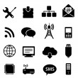 Computer and technology icons — Stockvectorbeeld