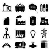 Oil and energy icon set — Stock Vector