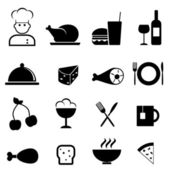 Restaurant and food icons — Stock Vector