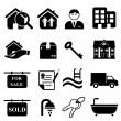 Real estate icons — Stock Vector #13559265