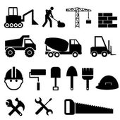 Construction icon set — Stock Vector