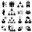Management icon set — Stock Vector