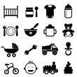 Baby and newborn icon set — Stock Vector #13894112