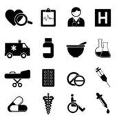 Hälsa och medicinsk ikoner — Stockvektor