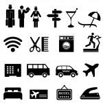 Hotel icon set — Stock Vector