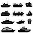 Ship and boat icons — Stock Vector