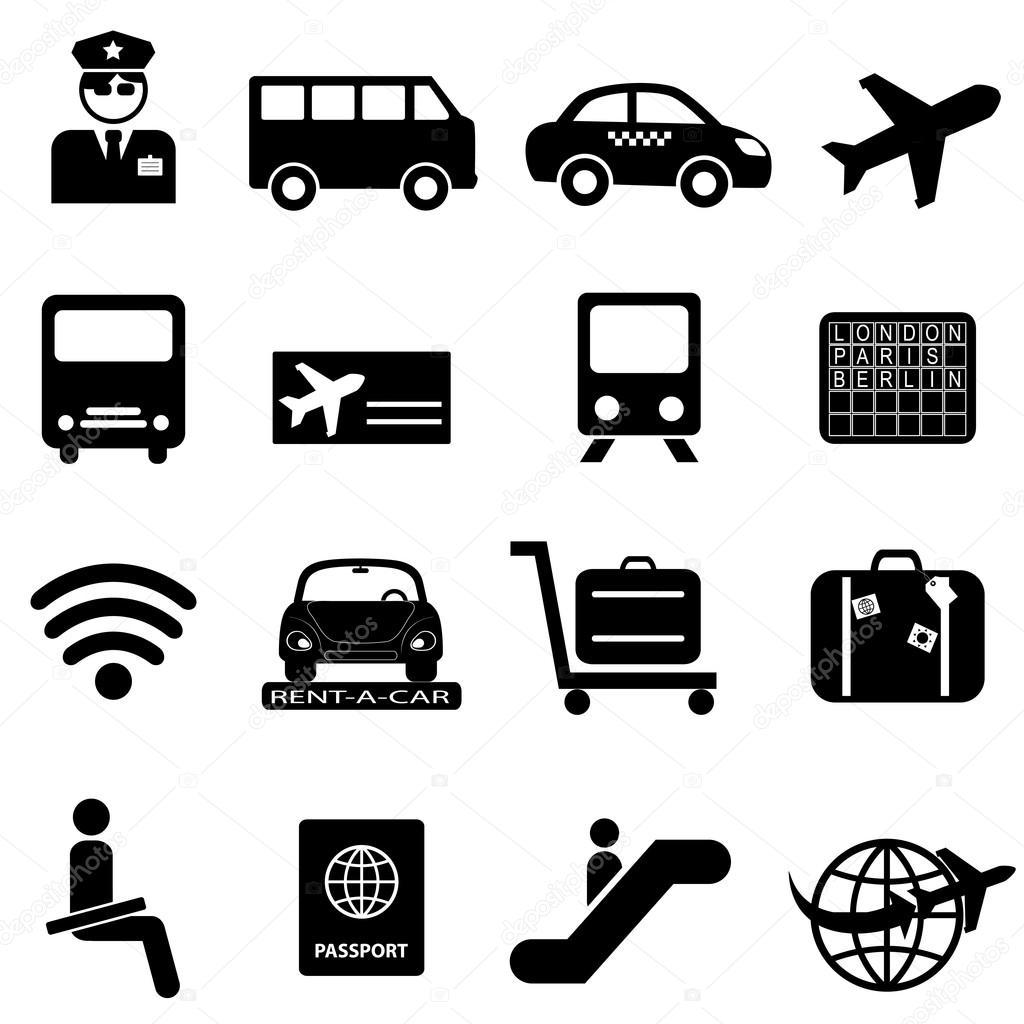 机场与航空旅行图标