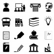 Education and school icons — Stock Vector