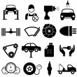Car maintenance and repair — Image vectorielle