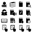 Stock Vector: Books, literature and reading icons