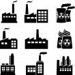 Industrial buildings and factories — Stock Vector