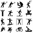 Sports and athletics icons - Stock Vector