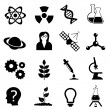 Stock Vector: Science, biology, physics and chemistry icon set