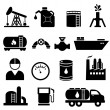 Stock Vector: Oil and petroleum icon set