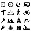 Stock Vector: Camping icon set