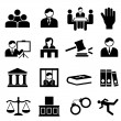 Justice and legal icons — Stock Vector