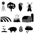 Farm and agriculture icons — Stock Vector