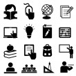 Back to school icons — Stock vektor