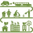 Clean energy and green environment — Imagen vectorial