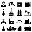 Oil and gasoline icon set — Stock Vector