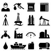 Oil and gasoline icon set — Stock Vector