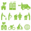 Ecology and Environment Icon Set — Imagens vectoriais em stock