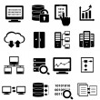 Stock Vector: Big daticon set